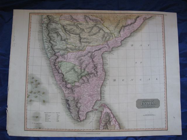 Image for Map of BRITISH INDIA - Southern Part,