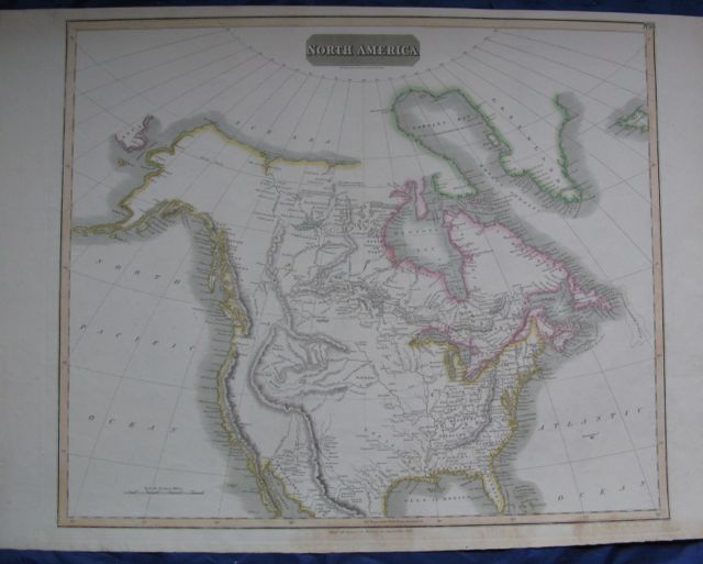 Image for Map of NORTH AMERICA