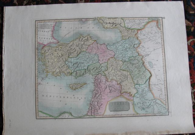 Image for Map of TURKEY in ASIA,