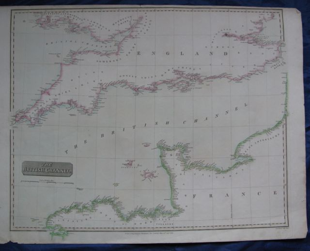 Image for Map of THE BRITISH CHANNEL