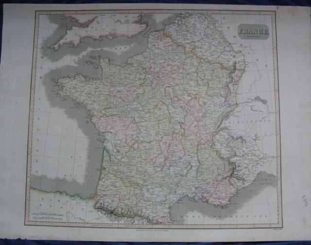 Image for Map of FRANCE in Provinces,