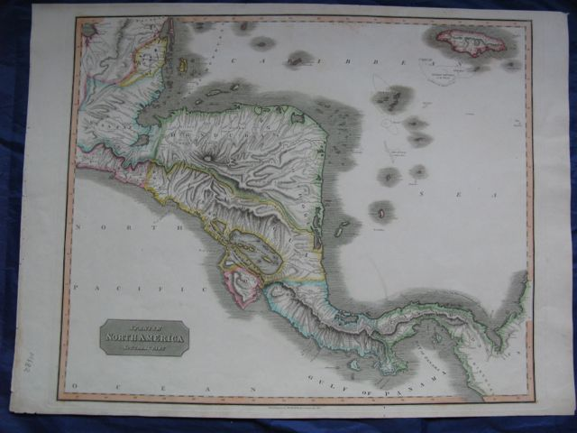 Image for Map of SPANISH NORTH AMERICA - Southern Part. Inc. Jamaica