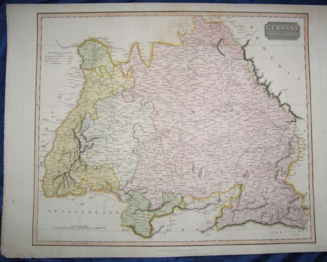 Image for Map of GERMANY- South of the Mayne,
