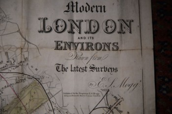 Image for MODERN LONDON AND ITS ENVIRONS FOR 1849 Exhibiting a Circle of Three Miles from the General POstOffice to Which is Added A COPIOUS INDEX Containing Upwards of 1500 Places with Reference to Their Several Situations