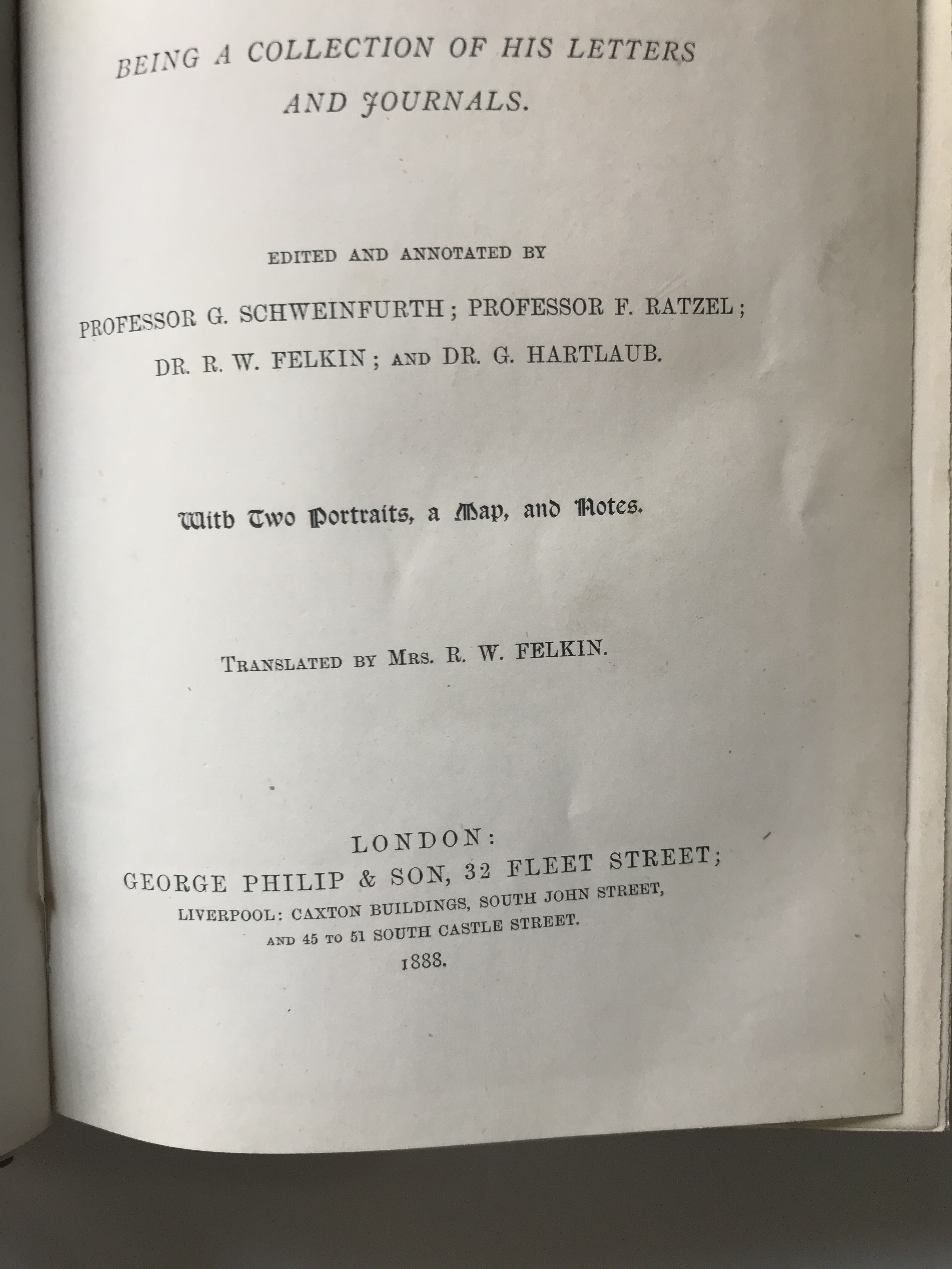 Image for EMIN PASHA IN CENTRAL AFRICA , being a collection of his letters and journals. Edited and annotated by Professor G. Schweinfurth, Professor F. Ratzel, Dr. R.W. Felkin, and Dr. G. Hartlaub