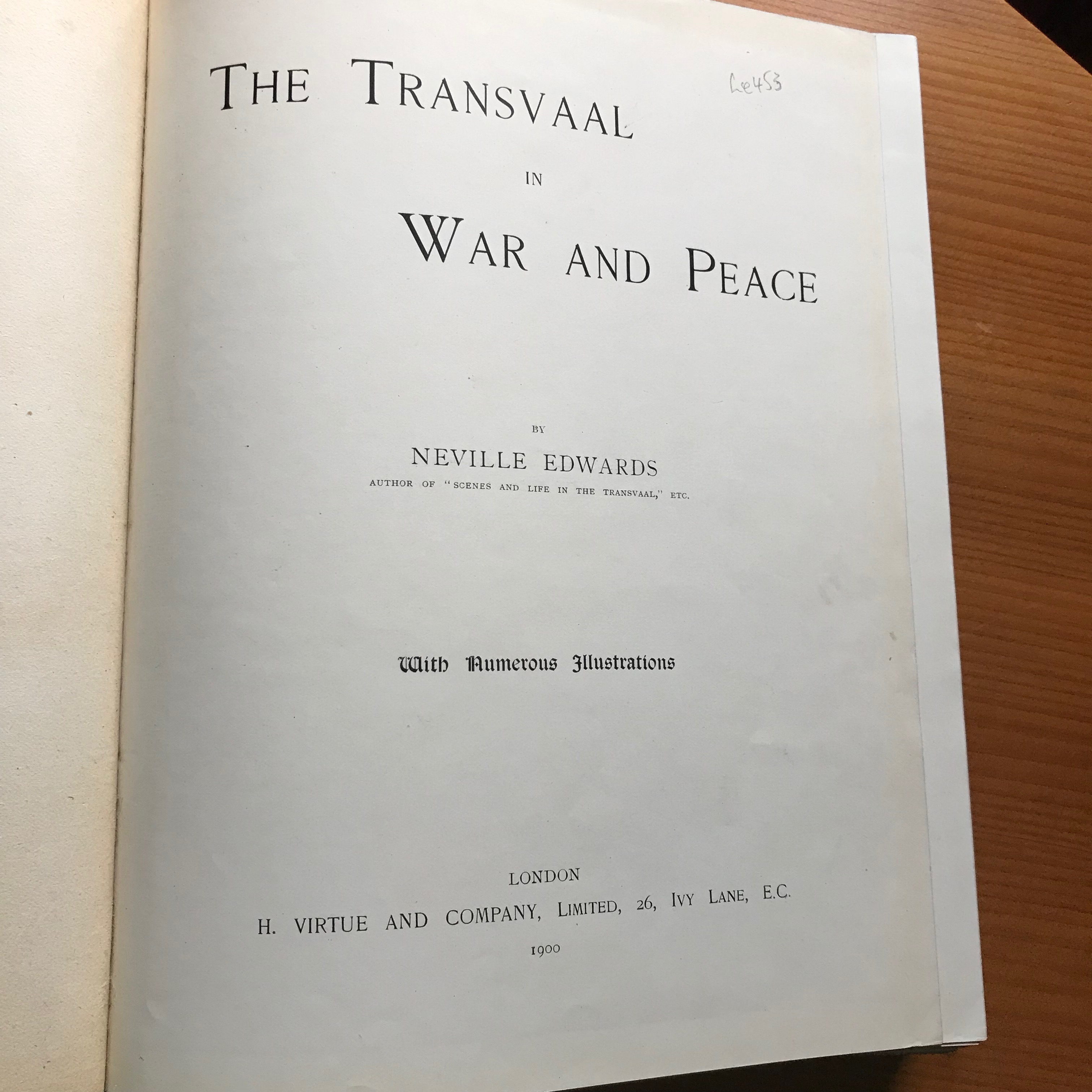 Image for THE TRANSVAAL IN WAR AND PEACE