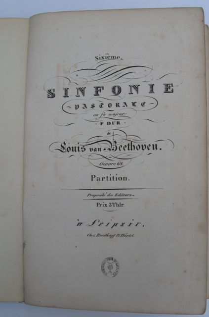 Image for SIXIEME SINFONIE PASTORALE en fa majeur F DUR Oeuvre 68.