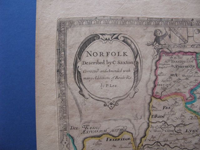 Image for NORFOLK 1689 described by C. Saxton Corrected and Amended with many Additions of Roads &c