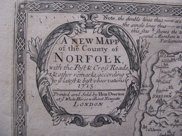 Image for A NEW MAP OF THE COUNTY OF NORFOLK 1713