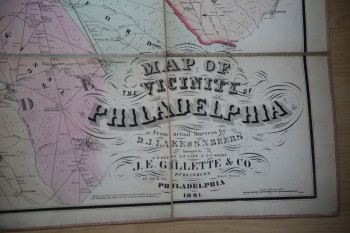 Image for MAP OF THE VICINITY OF PHILADELPHIA From Actual Surveys By D.J. Lake and S.N.Beers
