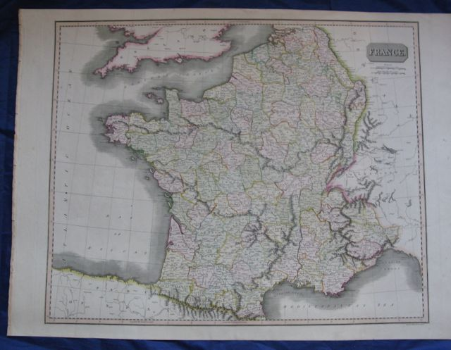 Image for Map of FRANCE (in Departments),
